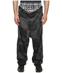 Vivienne Westwood Cubist Check Builder Trousers Grey Check Men's Casual Pants Black