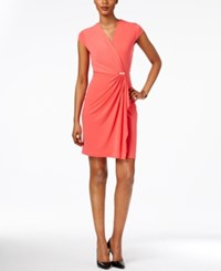 Charter Club Petite Crossover Dress Only At Macy's Crushed Coral