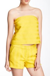 Trina Turk Johannah Bandeau Tube Top Yellow