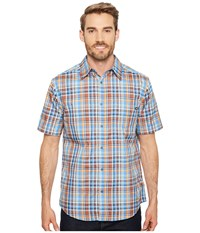Marmot Dobson S S Lakeside Short Sleeve Button Up Blue