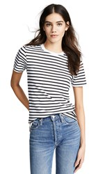 Ag Jeans Gray Boy Tee True White True Black Stripe