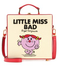 Olympia Le Tan Little Miss Bad Canvas And Leather Shoulder Bag Beige