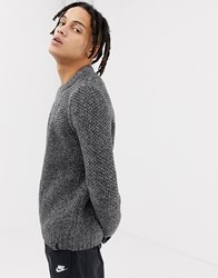 Your Turn Yourturn Honeycomb Knit Jumper In Black And White Black White