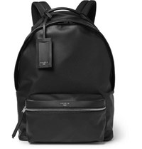 Sandro Faux Textured Leather Backpack Black