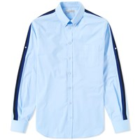 Alexander Mcqueen Arm Stripe Poplin Shirt Blue