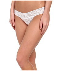 Hanky Panky Petite Signature Lace Low Rise Thong White Women's Underwear