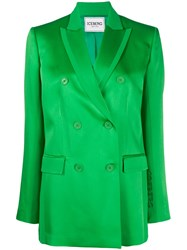 Iceberg Double Breasted Blazer Green