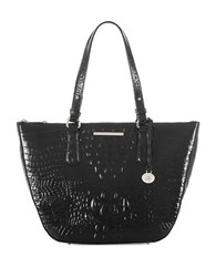 Brahmin Willa Carryall Pecan Melbourne Tote Black