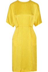 Preen By Thornton Bregazzi Sybil Silk Jacquard Dress Marigold