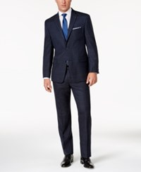 Michael Kors Men's Classic Fit Blue Bold Plaid Suit