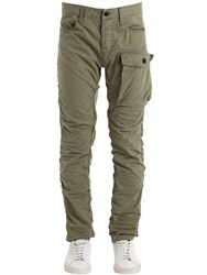 G Star Tendric 3D Tapered Cotton Cargo Pants Green
