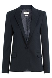 Zadig And Voltaire Tailored Blazer With Wool Black
