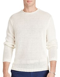 Polo Ralph Lauren Linen Roll Neck Sweater Dockwash White
