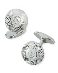 Dunhill Engine Turned Sterling Silver Disc Cuff Links
