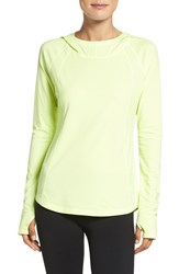 Zella Women's Technique Hooded Pullover Yellow Chill