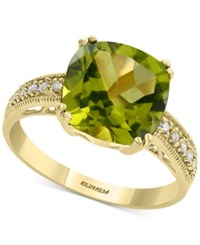 Effy Peridot 3 3 4 Ct. T.W. And Diamond Accent Ring In 14K Gold