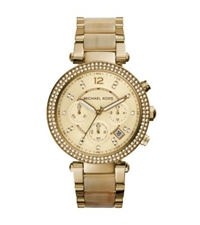 Michael Kors Parker Gold Tone Horn Acetate Watch