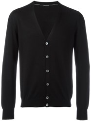 Tagliatore 'Murray' V Neck Cardigan Black