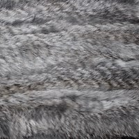 Lindo F Fur Infinity Scarf Natural Grey