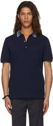 Missoni Navy Contrast Collar Polo