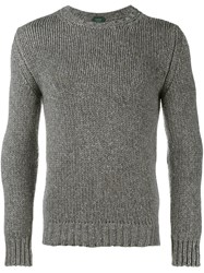 Incotex Chunky Knit Jumper Grey