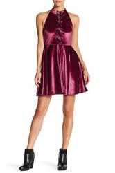 Romeo And Juliet Couture Halter Skater Dress Red