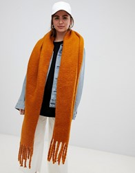 Weekday Oversized Scarf In Rust Brown