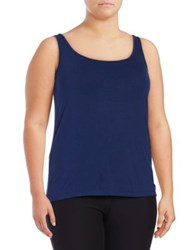 Lord And Taylor Plus Iconic Fit Tank Top Black