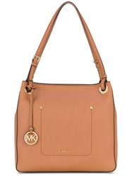 Michael Kors Walsh Tote Women Calf Leather One Size Nude Neutrals