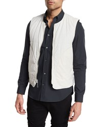 Maison Martin Margiela Reversible Zip Up Nylon Vest Ivory