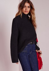Missguided Chunky Turtle Neck Jumper Black Black