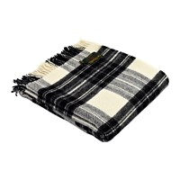 Tweedmill Pure New Wool Tartan Throw Grey Dress Stewart