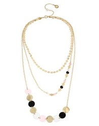 Bcbgeneration Neo Geo Triple Layered Necklace Gold