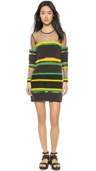 Emma Cook Ribbon Stripe Multi Dress Black Green
