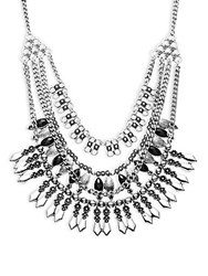 Cara Multi Layer Necklace Silver
