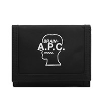 A.P.C. X Brain Dead Wallet Black
