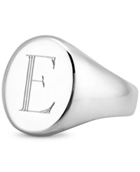 Sarah Chloe Initial Signet Ring In Sterling Silver