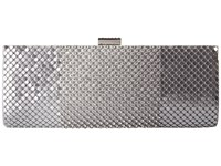 Jessica Mcclintock Bailey Dramed Mesh Clutch Silver Clutch Handbags