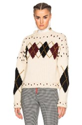 Isabel Marant Glens Mods Knit Sweater In Neutrals Geometric Print Neutrals Geometric Print