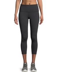 The North Face Motivation High Rise Cropped Performance Leggings Black