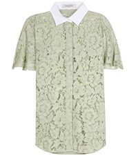 Valentino Lace Blouse Green