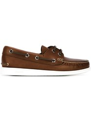 Church's Rubber Sole Deck Shoes Brown