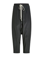 Rick Owens Harem Pants With Silk
