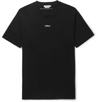 Alyx Printed Cotton Jersey T Shirt Black