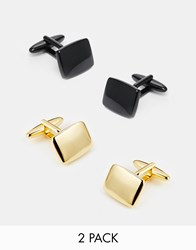 Asos Cufflinks 2 Pack Save 20 Blackgold