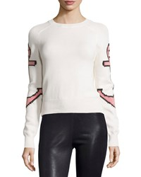 See By Chloe Long Sleeve Anchor Sweater Beige