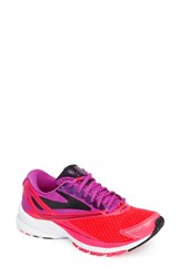 Brooks Women's Launch 4 Running Shoe Purple Flower Pink Black