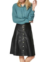 Selected Femme Sonja Leather Skirt Black