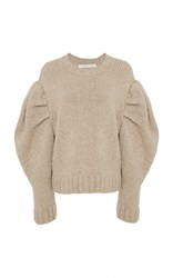 Marisa Witkin Puff Sleeve Sweater Neutral