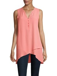 Ivanka Trump Sleeveless Hi Lo Tunic Peach